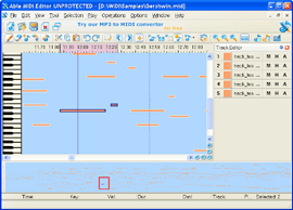 Able MIDI Editor - inexpensive powerful MIDI editor for Windows
